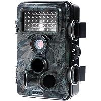 Zacro Wildkamera 12MP Bildauflösung 1080P Full HD-Video Tierbeobachtungskamera 2,4 '' TFT-LCD-Farbdisplay Digitalkamera 120 Grad Breite Vision Infrarote 20m Nachtsicht Jagdkamera