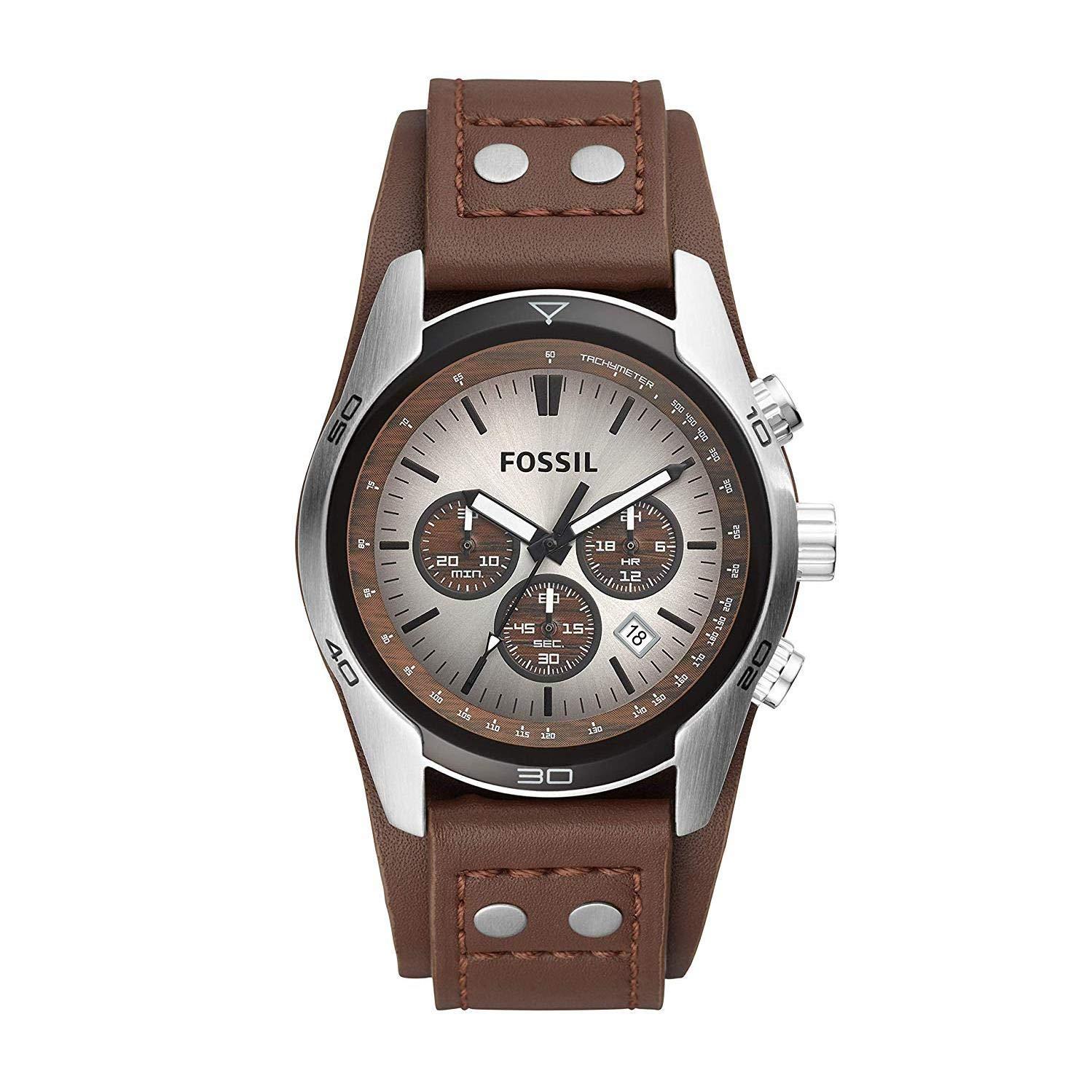 98477b56d5a0 Fossil correa de reloj CH-2565 Piel Marrón oscuro 22mm(Sólo reloj correa -  RELOJ NO INCLUIDO!)  Amazon.es  Relojes