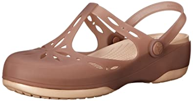crocs Damen Carliecutoutclg Clogs Bronze/Gold 9 B(M) US