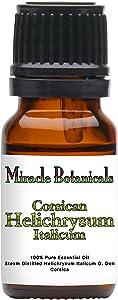 Miracle Botanicals Corsican Helichrysum Essential Oil - 100% Pure Helichrysum Italicum - Therapeutic Grade - 10ml