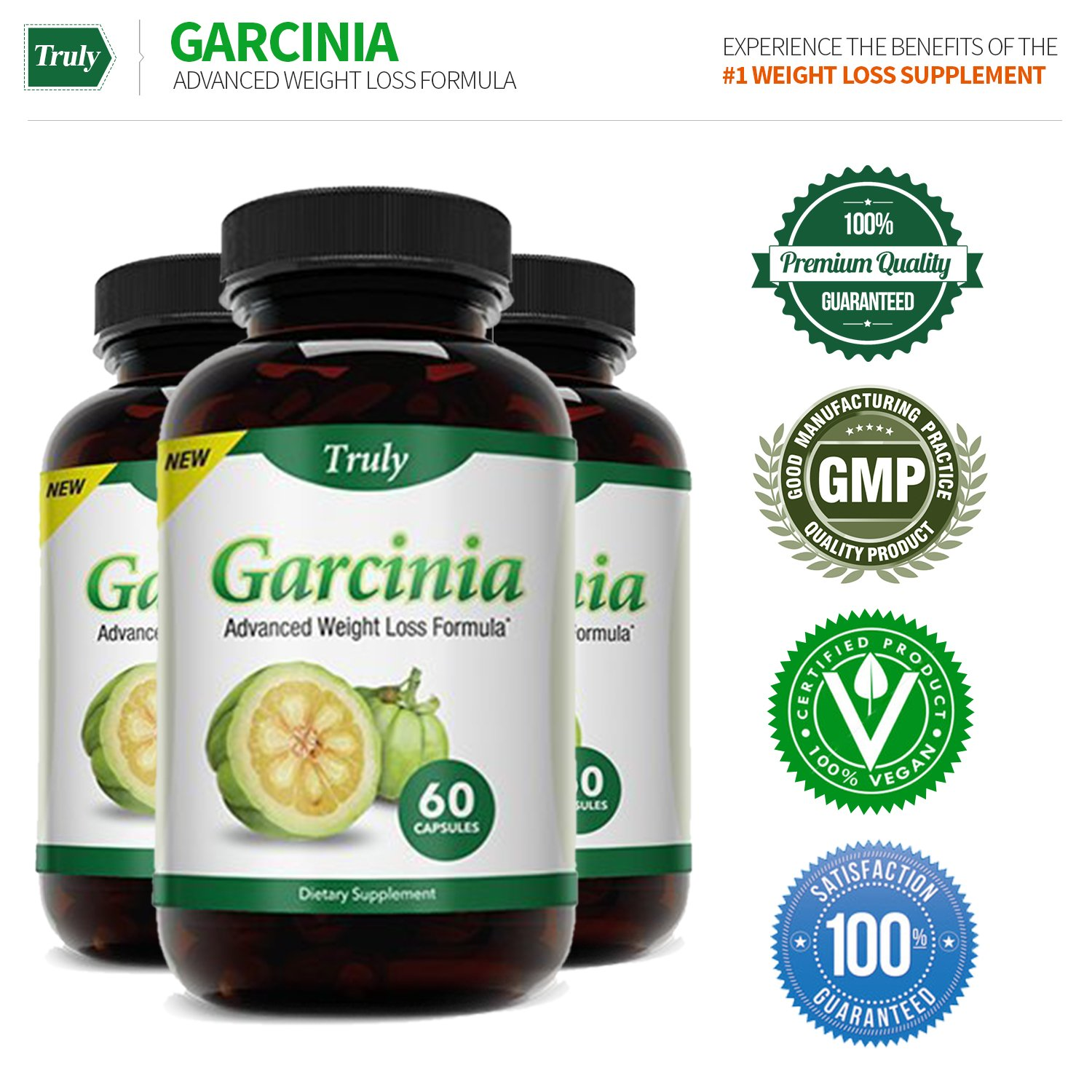 Truly Garcinia- Garcinia Cambogia- Ultra Premium Weight Management Formula-Natural And Potent Weight Loss Pills For Men And Women – Burn Belly Fat – Metabolism Booster – Powerful Antioxidant by Truly (Image #6)