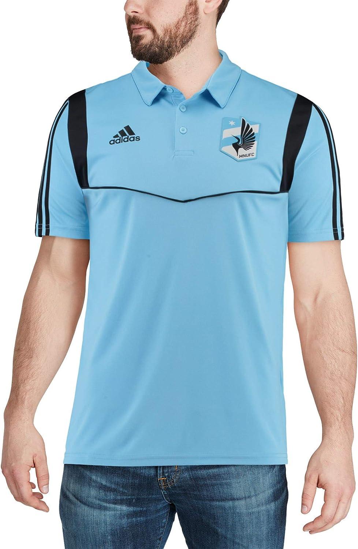 adidas Minnesota United FC Mens Team Logo Coaches Climalite Performance Polo Shirt