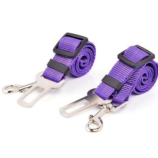 102 opinioni per Neuftech 2x Cane Guinzaglio Cintura di Sicurezza Auto per Cani 65cm purple