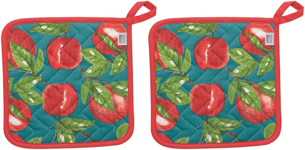 Now Designs 505901aa Potholders, Set of Two, Apple Orchard, 2 Count