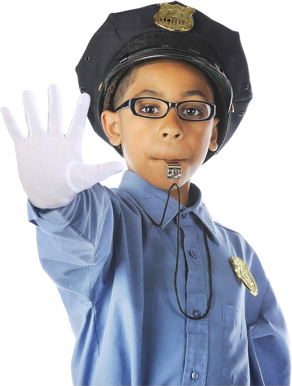 Child Nylon Gloves Formal Dress Gloves Kids Costume Wrist Gloves for Art Show Uniform Party White