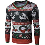 Gillberry Men's T Shirt, Autumn Winter Xmas Christmas Top Long-Sleeved T-Shirt