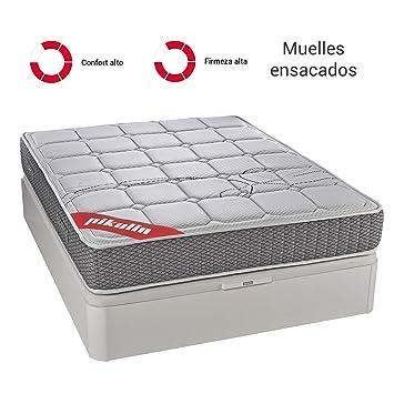 PIKOLIN Colchón 90x190 de muelles ensacados visco, firmeza Alta, Reversible, máxima Calidad, Alto 27 cm - Colchones Troas: Amazon.es: Hogar
