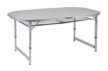 Bo camp campingmöbel bc tisch premium oval 150 x 80 cm grau