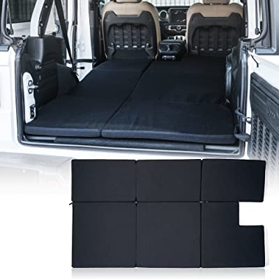 Xprite Black Mattress Sleeping Camping Bed Pad Platform, NitePad Sand Premium 1.5-inch Thick Portable Trunk Cushion for 2020-2020 Jeep Wrangler JL: Automotive