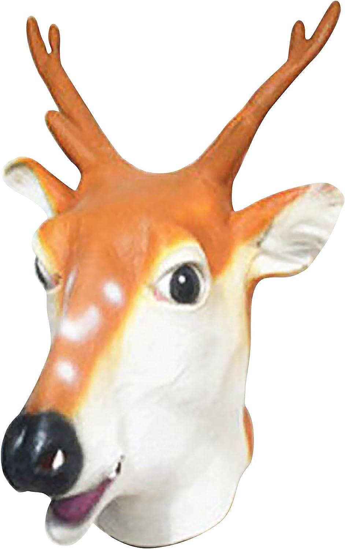 L Big Boss - Máscara de Halloween con diseño de Cabeza de Jirafa ...