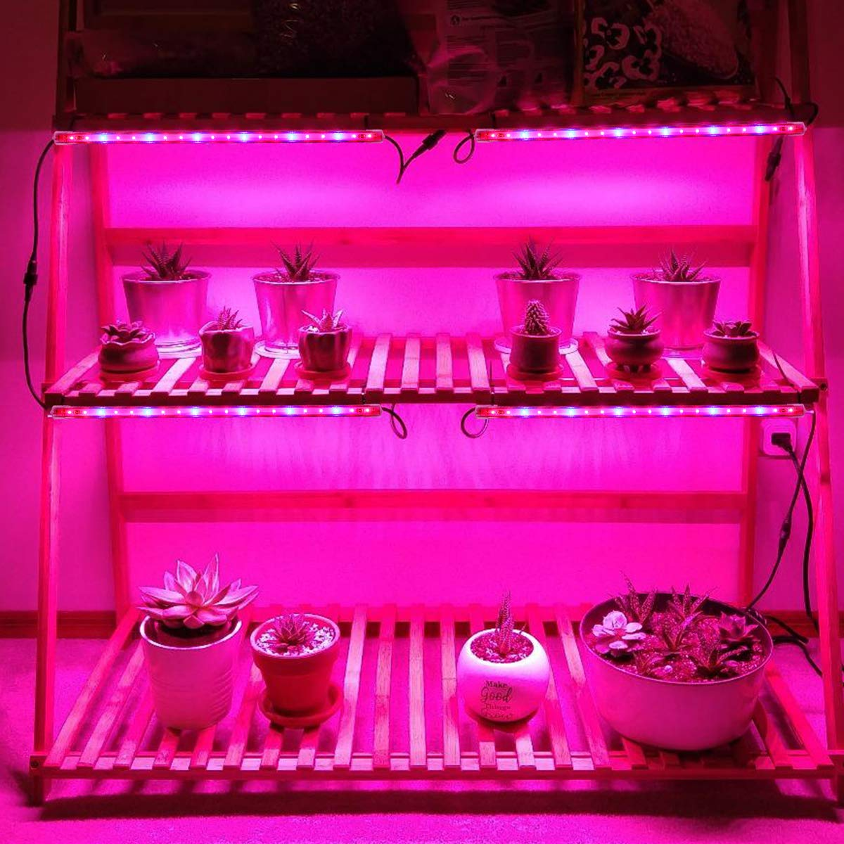 2 Pack LED Grow Light with Timer, 20W T5 Grow Lights Strip Plant Light Grow Lamp Bar 4 Levels Brightness Dimmable for Indoor Plants Tent Greenhouse Gardening Hydroponics Veg Flower Seedlings 61zNThqtcUL
