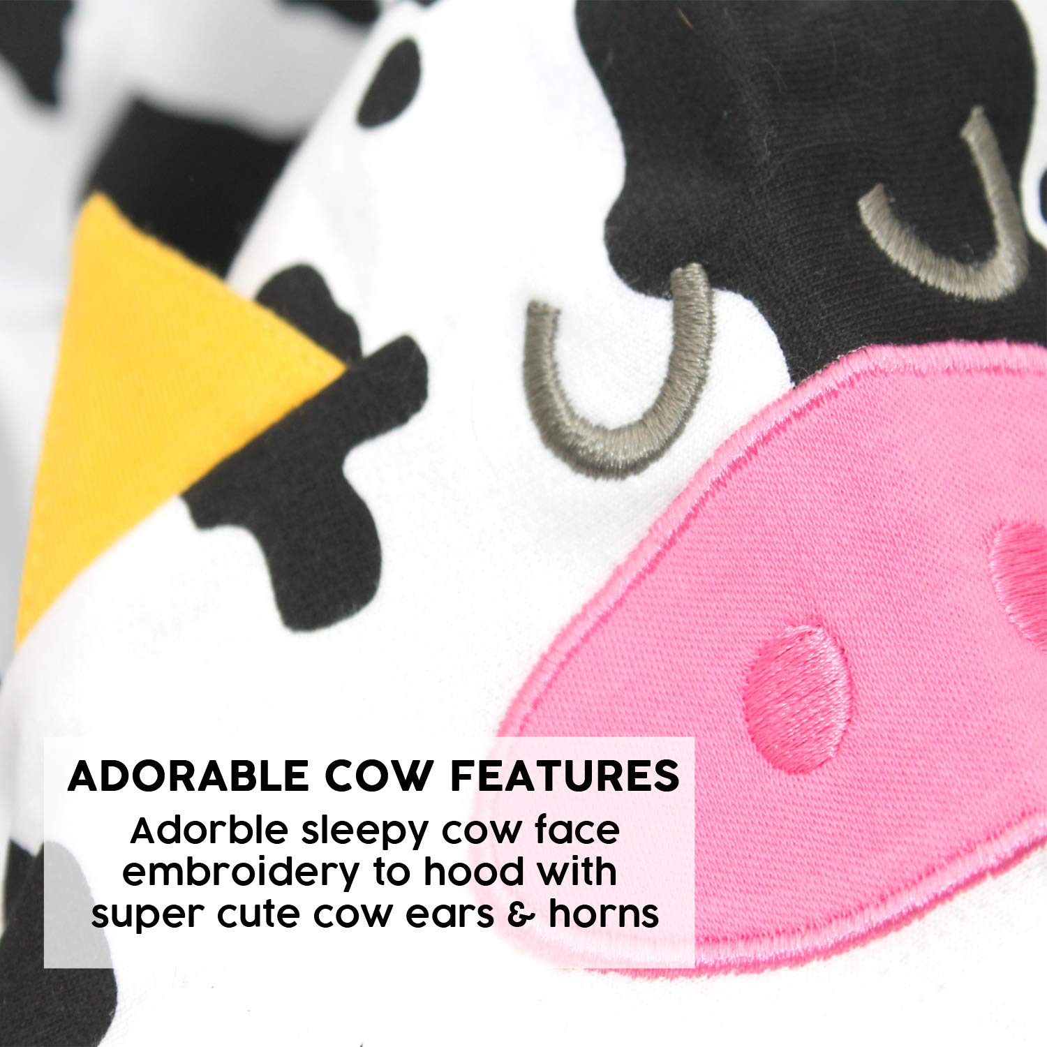 Baby Shower Gifts 6-12 Months Boy or Girl Cow Baby Romper Outfit for Boys or Girls New Cow Costume Cute Baby Clothes or 1st Baby Gift | 1 Cute Cow Hooded Zip Onesie Suit by BABY MOOS UK