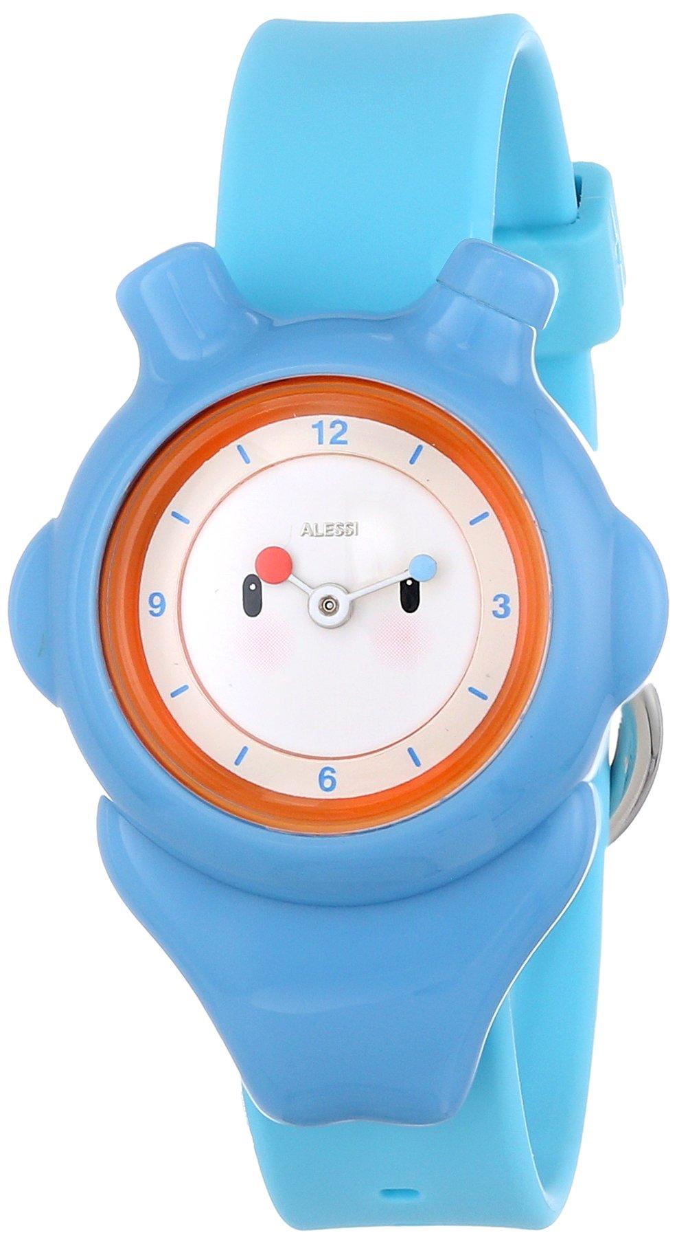 Alessi Kids' AL23000 Space-Bimba Polyurethane Blue Designed by Miriam Mirri Watch