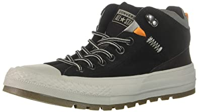 fe419a30b280 Converse Men s Chuck Taylor All Star High Top Sneaker Boot Black Dolphin