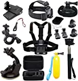 Accessories for AKASO EDOSE Gopro Accessories Bundle Kit for AKASO EK7000/ GoPro Hero AKASO Brave 4 Vemont Victure APEMAN VicTsing Bopower Action Camera Accessory Bundle with Case