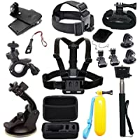 Accessories for AKASO EDOSE Gopro Accessories Bundle Kit for AKASO EK7000/ GoPro Hero 7 GoPro Hero 6  Akaso Brave 4 Vemont Victure APEMAN VicTsing Bopower Action Camera Accessory Bundle with Case