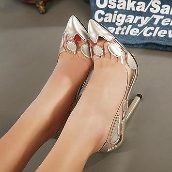 Nhgy Tacon Y zapatos Colorear De Delgado Fino SandaliasSexyPara SqVGULzpM
