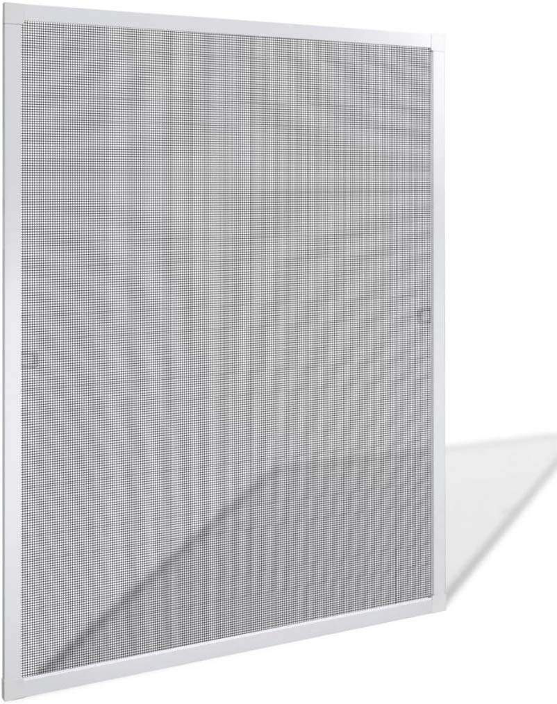 Window Screens Pre-Framed, Ready to Hang - Home Replacement Window Screens - Custom Sizes, Colors & Options - Frame Color: (White), Material Type: (Fiberglass Screen - Grey) by USA WindowScreens