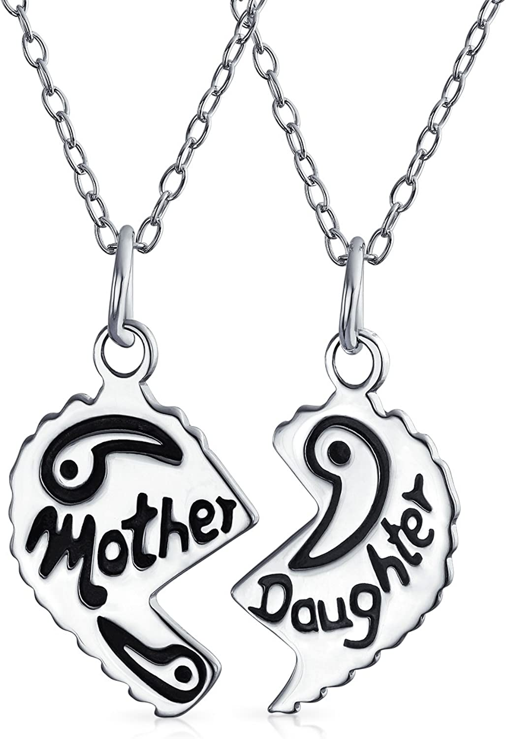 .925 Sterling Silver Mother//Daughter Break Apart Charm Pendant