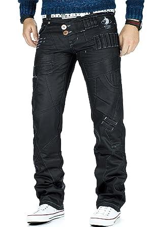 bfc607b44769 Kosmo Lupo Herren Jeans Freizeit Hose Clubwear Designer Dope Cargo Style  Schwarz  Amazon.de  Bekleidung
