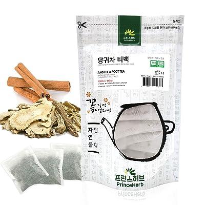 [Medicinal Korean Herb Tea] Angelica Root Tea (Angelica Root, Cinnamon & Sweet Root) / 당귀 티백 차 25g (15 teabags) : Garden & Outdoor