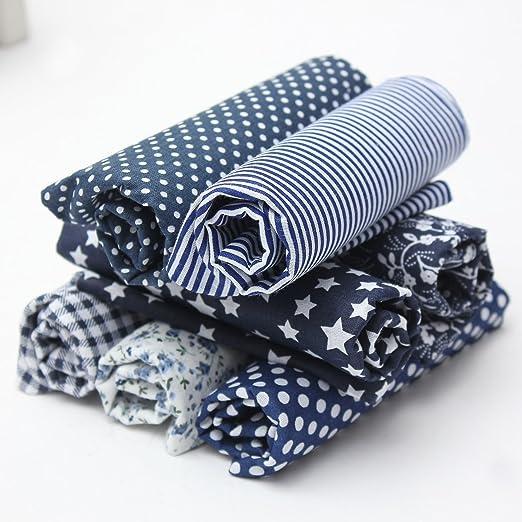 Leisial - 7 unidades de tela de algodón, tejidos estampados de ...