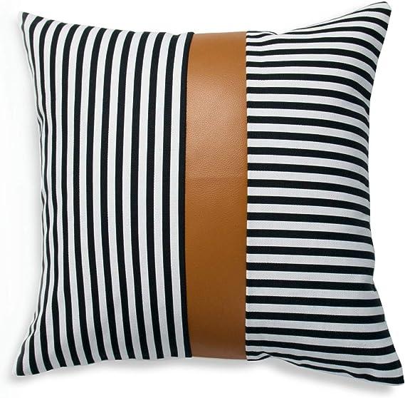 Oscar camel and black fabric triangle design lumbar pillow coverColor block pillowmodern Scandinavian  homes-1qty