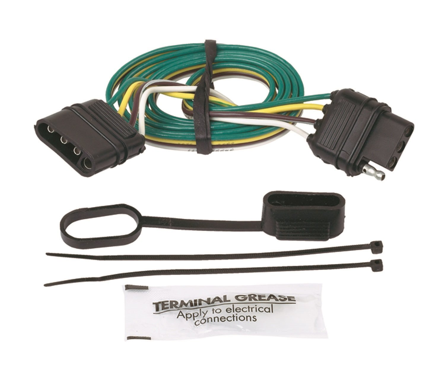 Hopkins 47115 4 Wire Flat Extension 48 Length Automotive 8487curtwiringtconnectorstrailerwireconnectorjpg
