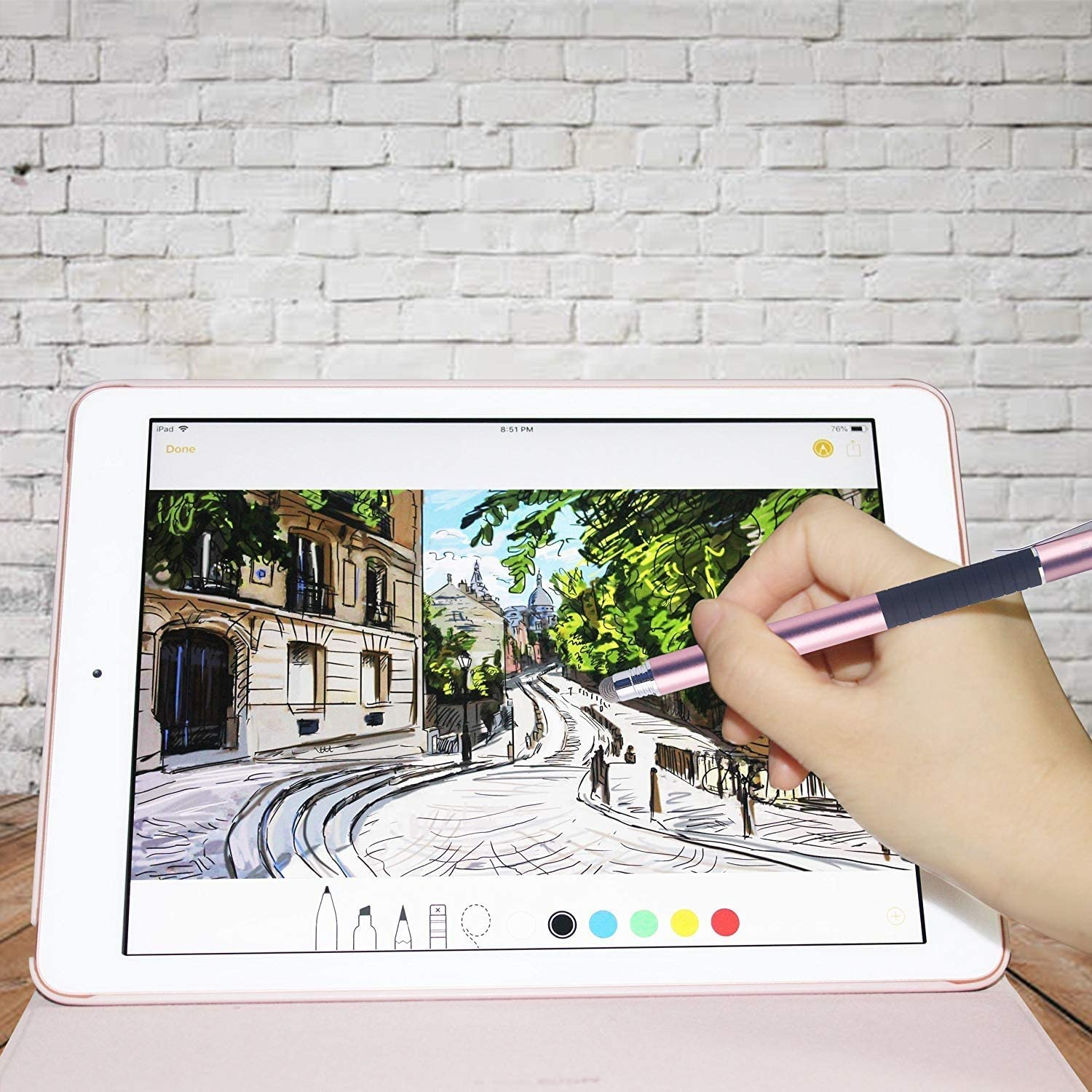 Stylus Pen Touchscreen Pencil with Fine Point Disc 100/% Compatible with All capacitive Touch Screen Devices Including iPad iPhone Choose from Pink-Rose