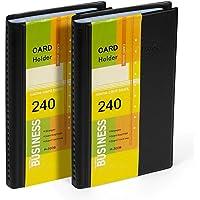 Hamosky Libro Del Organizador Del Titular De La Tarjeta De Presentación: Cuero De Pu, Total De 2 Paquetes Para 240…