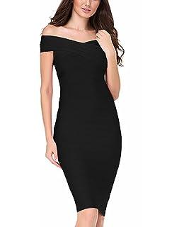 FARINA® Vestido rayón Bandage bodycon, vendaje vestido, Vestidos Bandage dress -sin mangas
