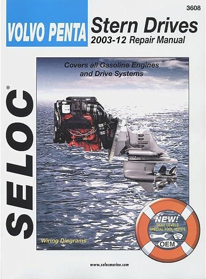 volvo penta boat engine diagram amazon com seloc volvo penta stern drive series 2003 2007  amazon com seloc volvo penta stern