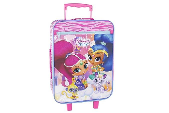 e6970ef101 Valigia trolley semirigido SHIMMER & SHINE PETS rosa bagaglio ryanair VS118