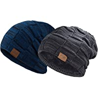 REDESS Beanie Hat for Men and Women Winter Warm Hats Knit Slouchy Thick  Skull Cap 1ccd9ee7660