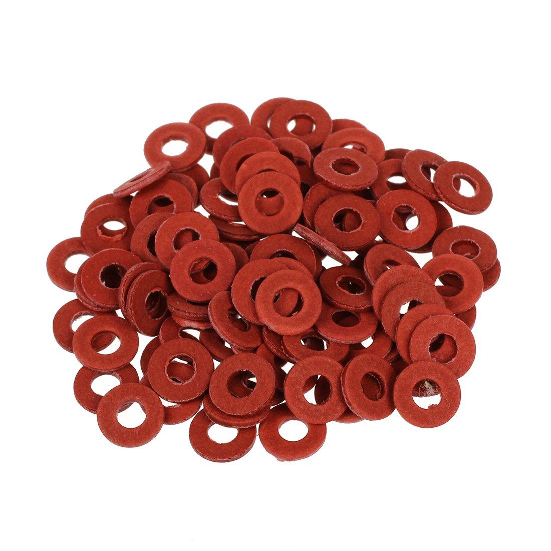 Semoic 100 x Arandela de Fibra Tornillo Aislante para Placa Base Rojo