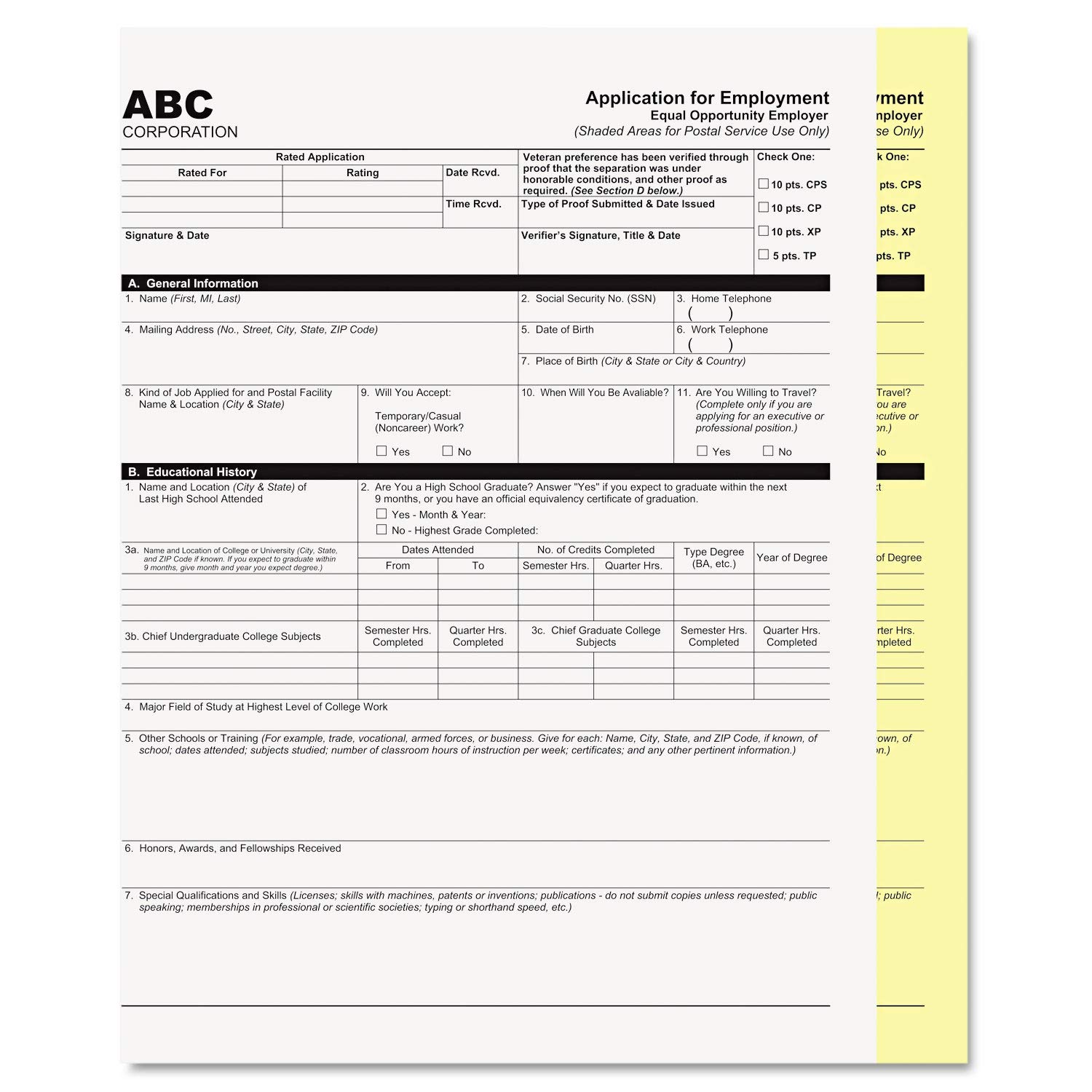 PM Company Digital Carbonless Paper, 8-1/2 x 11, Two-Part Collated, White/Canary, 2500 Sets - 59101 by PM Company (Image #1)
