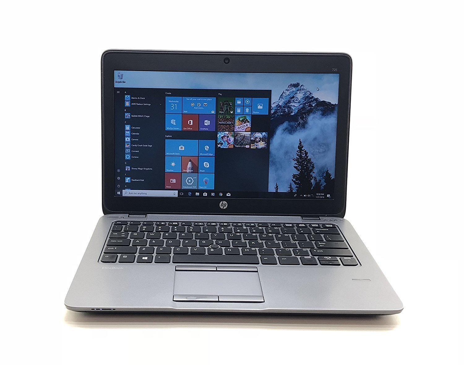 Windows 10 HP Elitebook English OS Laptop Computer, 英語版OSノートPC, AMD A8, 4 GB, 320 GB, 12.5 TFT, Windows 10 Pro (English), inbuilt Webcam, Wifi, Used computer, 中古ノート, Model: HP Elitebook 725 B07CZDN3HH