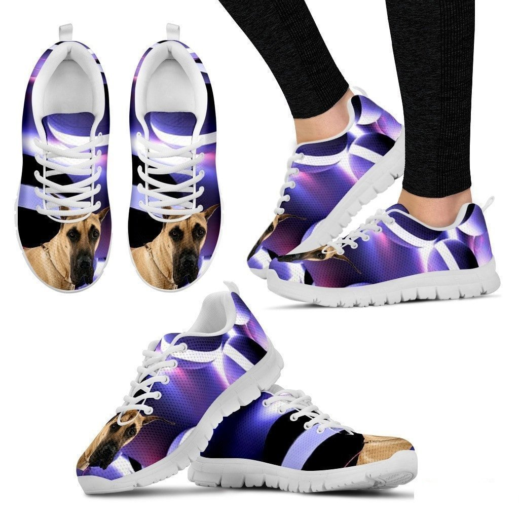 Amazon.com   Great Dane Dog Running Shoes - Dog Lovers Gifts - Custom Print  Design Athletic Tennis Shoes Sneakers - Pet Owner Lover Gift Ideas- Women s  ... 53a693f0a878