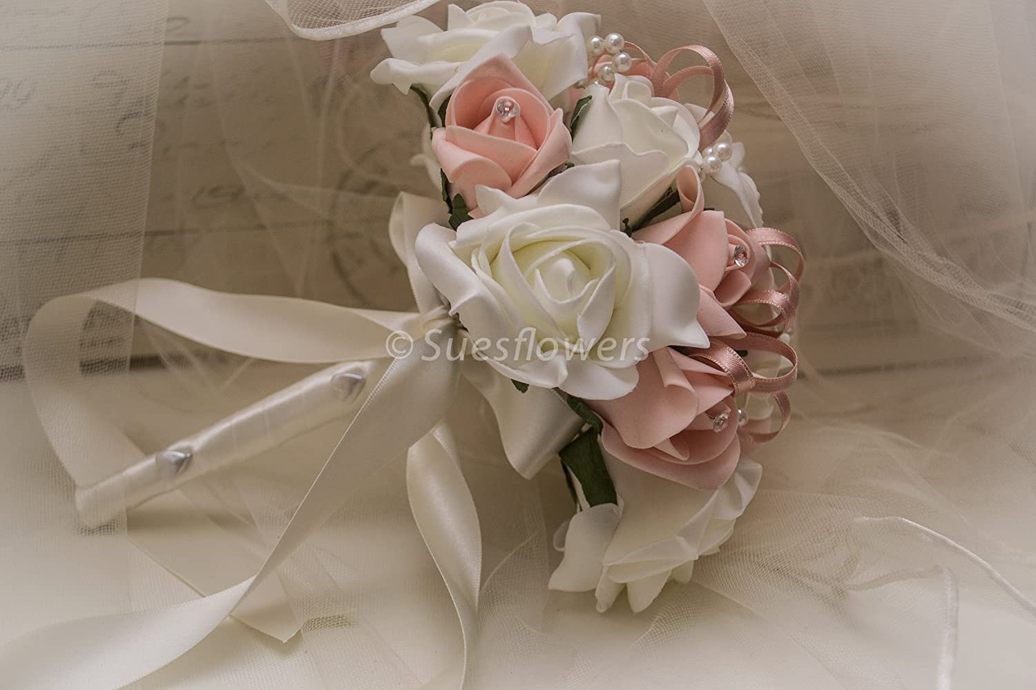 Wedding flowers adult bridesmaid bouquet in vintage peach sues wedding flowers adult bridesmaid bouquet in vintage peach sues flowers of york izmirmasajfo