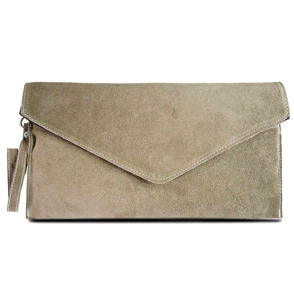 1686c9ba6ee89 Miss LuLu Schultertasche M Damen Handytasche Geldbörse Clutches  Umhängetasche Ausgehtasche Handtasche (E1405-Khaki)  Amazon.de  Schuhe    Handtaschen