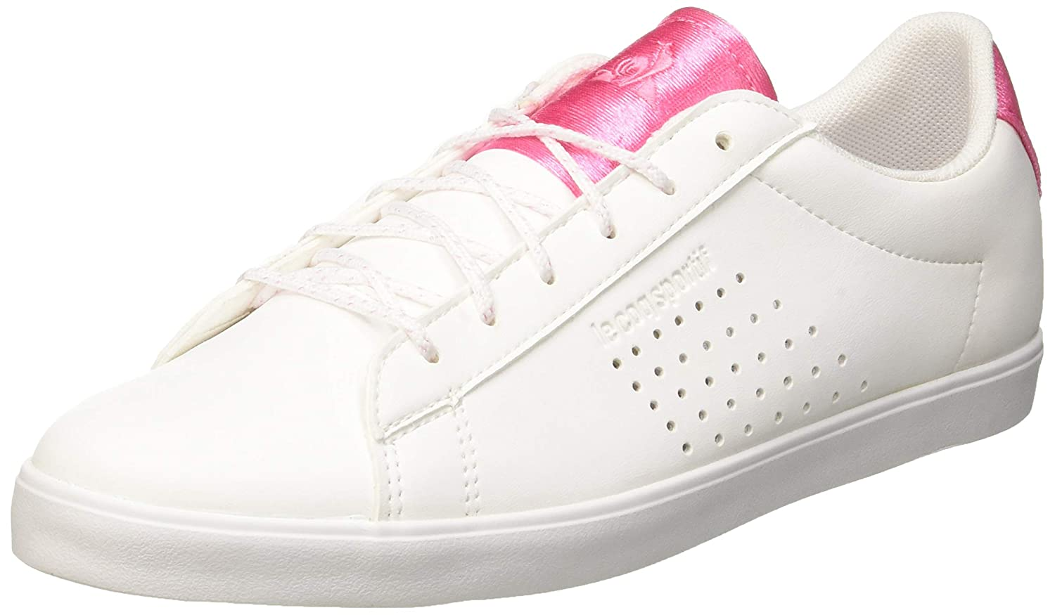 Le Coq Sportif Damen Agate Optical Weiß Rosa Carnation Turnschuhe