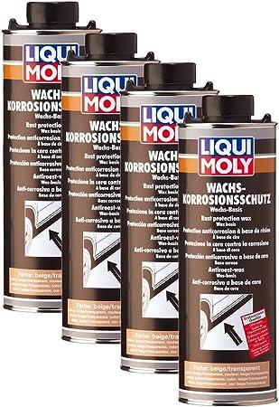 4x Liqui Moly 6104 Wachs Korrosions Schutz Braun Transparent Rost Pflege 1l Auto