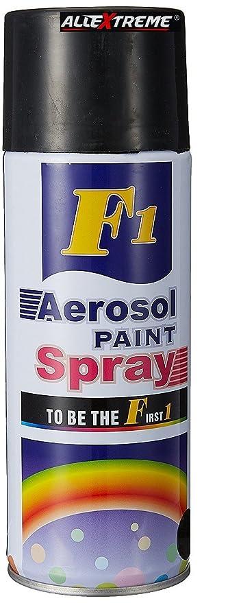 AllExtreme EXF1APB Multipurpose F1 Aerosol Colour Spray Paint for Home,  Cars, Bikes, Automotive Vehicles, Fiberglass & Leather (Shiny Black)