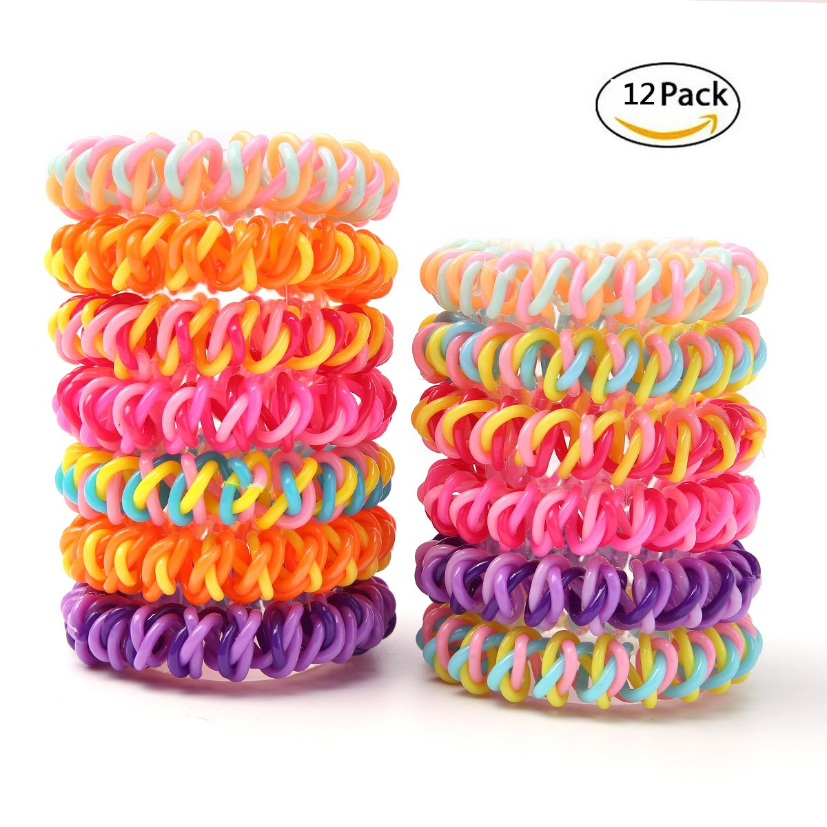 Amazon Com Lucygod 20pcs New Design Spiral Coil Elastic
