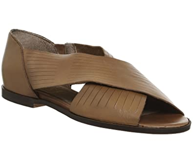 7a619f7cd Office Deadline Peep Toe Flat Sandals Tan Leather - 6 UK: Amazon.co.uk:  Shoes & Bags