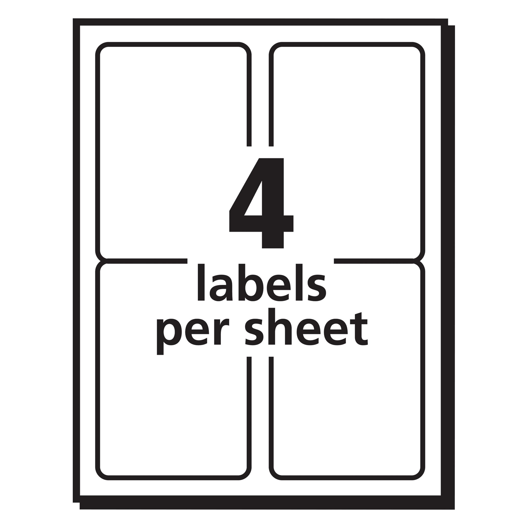 avery shipping address labels inkjet printers 100 labels 3 12 x 5 permanent adhesive trueblock 8168 8168 shipping labels office products