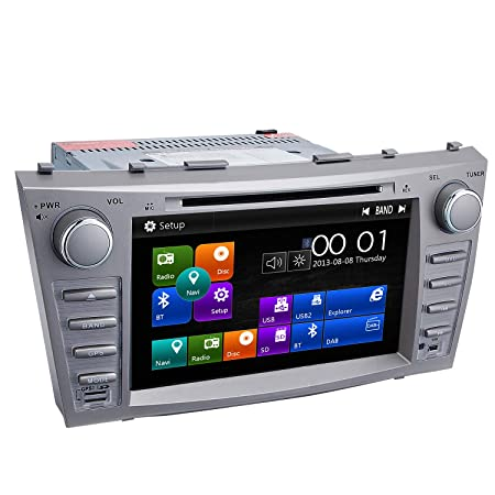Camry Car Stereo DVD Player-Double Din in-Dash, Multimedia Receiver with Touchscreen, Built-in Bluetooth, MP3 Player, GPS Navigation, SD, AUX Input, Radio Receiver Function Machine
