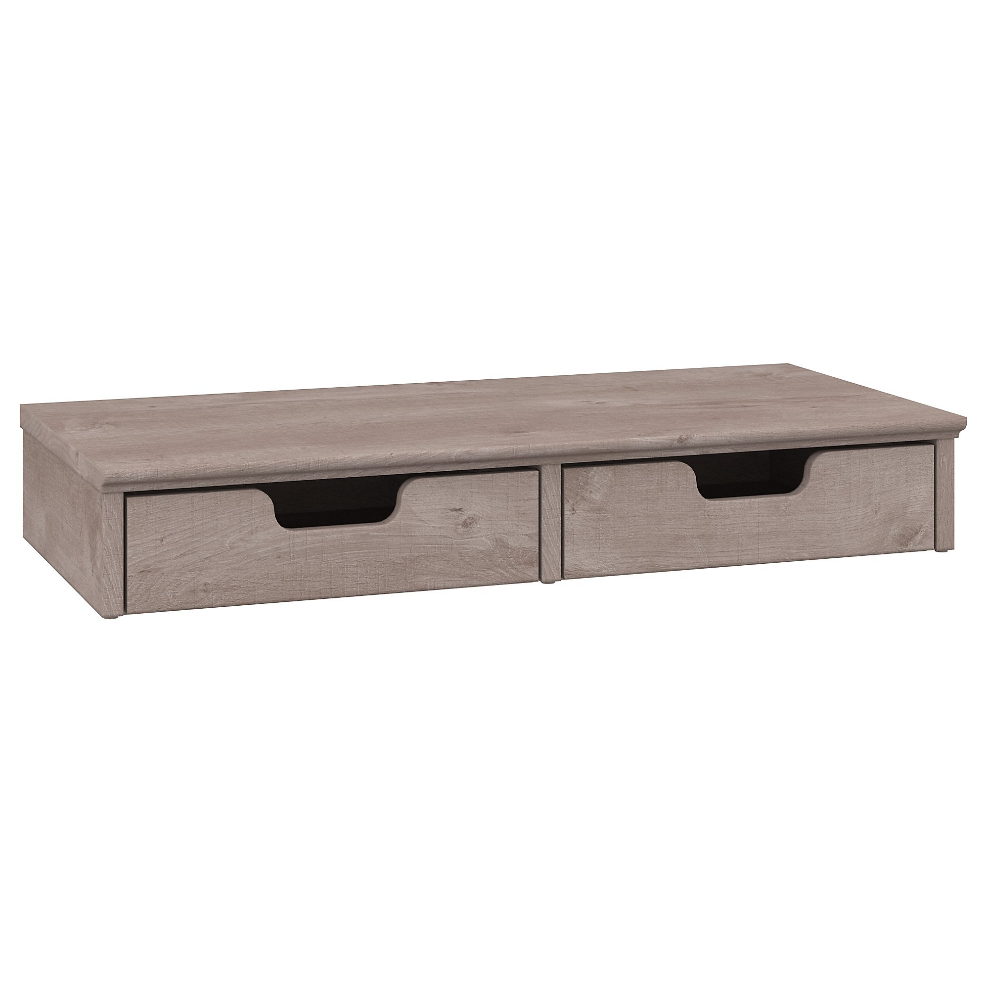 Bush Furniture Key West Desktop Organizer with Drawers in Washed Gray by Bush Furniture