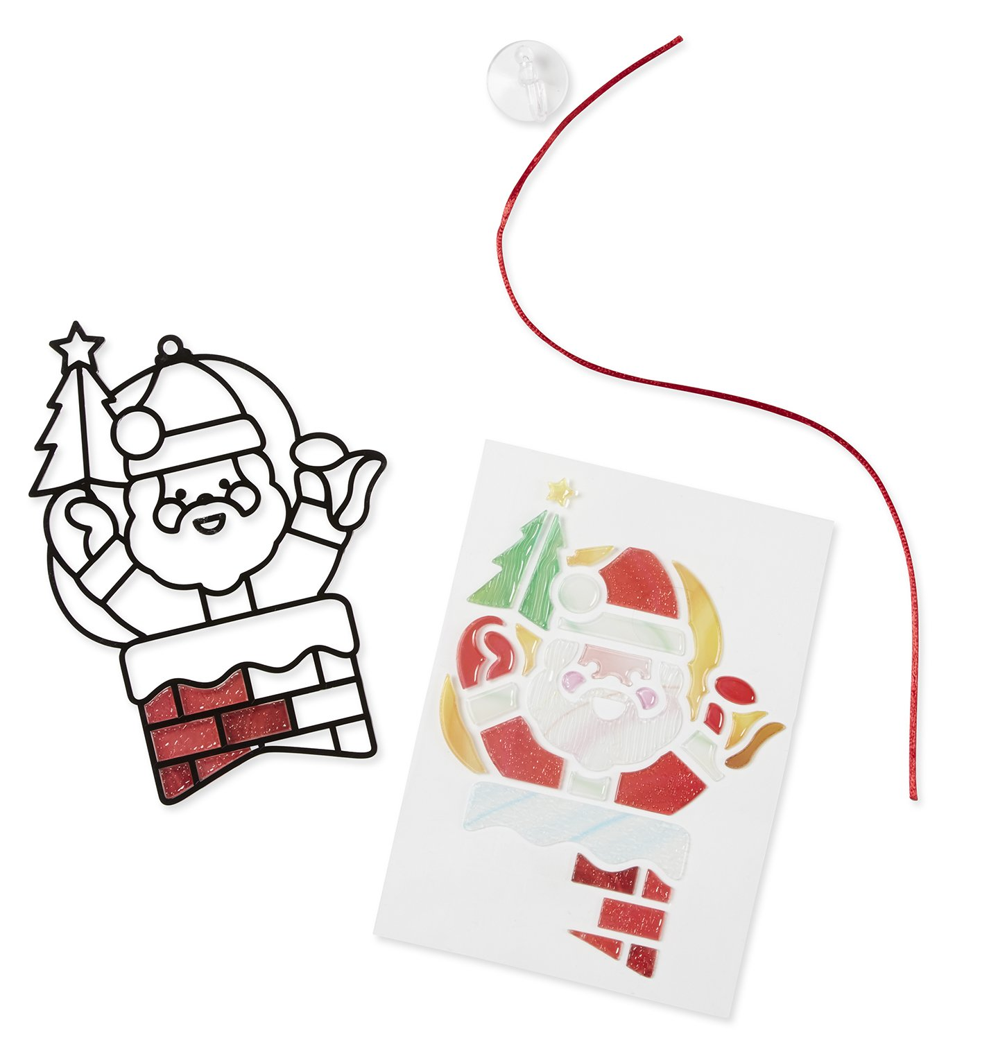 Santa Claus Stained Glass Melissa and Doug 8584 Melissa /& Doug Made Easy