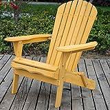 Vie Carver Jardin Fauteuil Adirondack Chaise longue de jardin en bois pliante Chaise Chaises pliantes d'extérieur terrasse Fauteuil inclinable